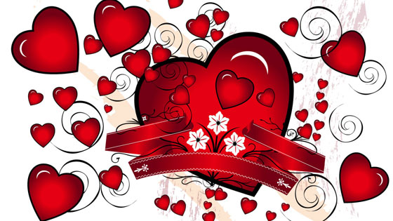 Get the beautiful hearts for you lovely Valentine's